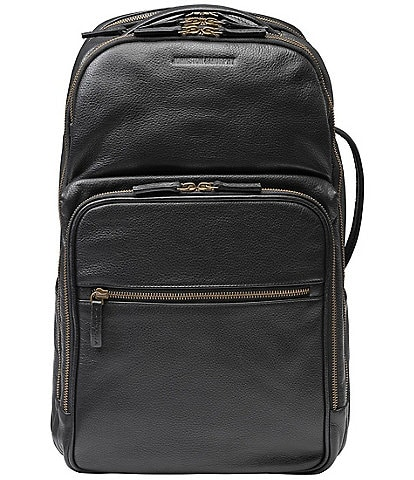 Johnston & Murphy Pebble Leather Backpack