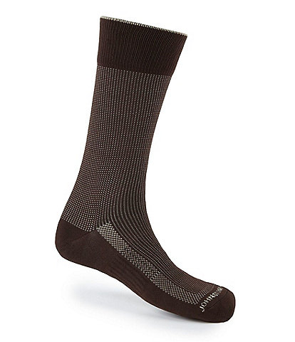 Johnston & Murphy Pindotted First in Comfort Dress Socks