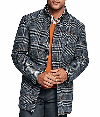 Johnston & Murphy Plaid Wool Coat