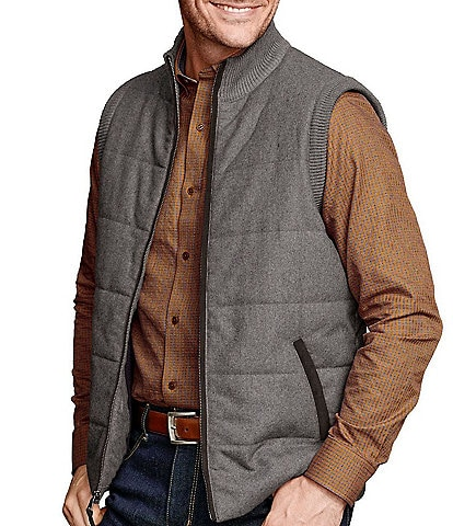 Johnston & Murphy Classic Fit Quilted Full-Zip Vest