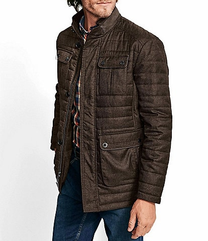 Johnston & Murphy Quilted Heathered Jacket