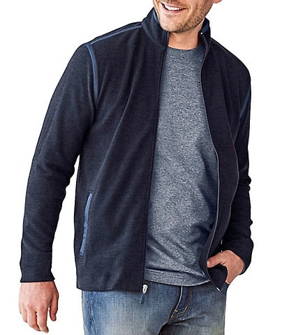 Johnston & Murphy Classic Fit Solid Stretch Full-Zip Jacket