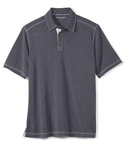 Johnston & Murphy Vintage Slub Short-Sleeve Polo Shirt