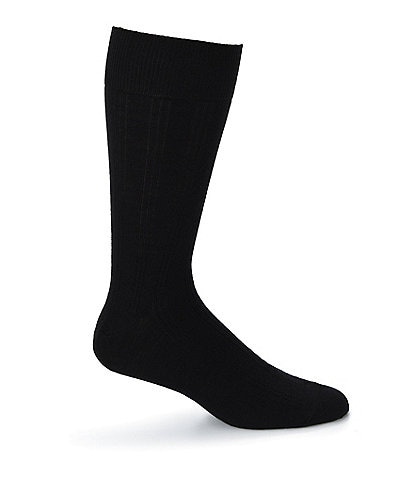 Johnston & Murphy Wool-Blend Ribbed Dress Socks