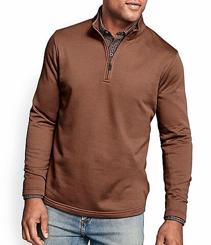 Johnston & Murphy XC4 Brushed Performance Stretch Quarter-Zip Pullover