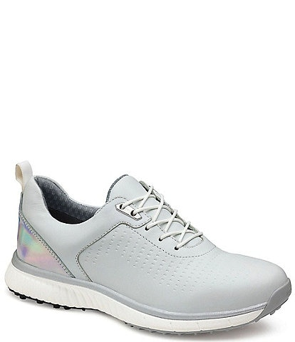 Johnston & Murphy XC4 Women's H-1 Luxe Hybrid Waterproof Leather Lace-Up Golf Shoes