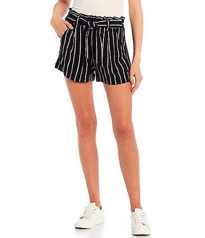 Jolt High-Rise Paperbag Waist Knit Shorts