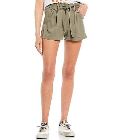 Jolt High Rise Tie Front Tencel Shorts
