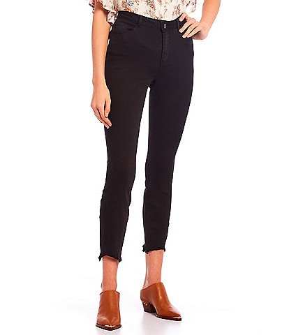 Jolt Raw Hem Crop Skinny Pants