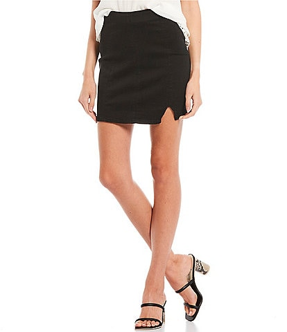 Jolt Seamed Side Notch Skirt