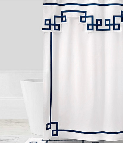 Jonathan Adler Campaign Embroidered Shower Curtain