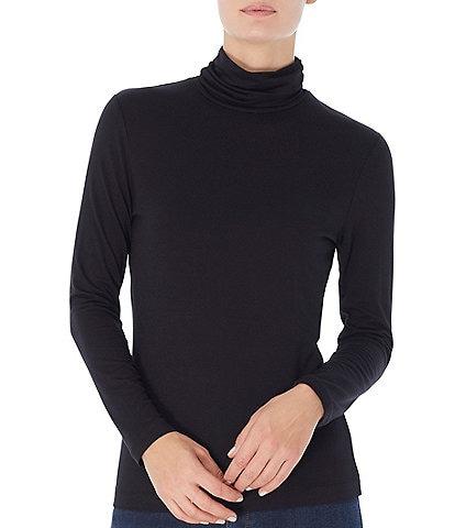 Jones New York Knit Jersey Turtleneck Long Sleeve Top