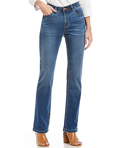 Jones New York Lexington Stretch Denim Dreamer Wash Straight-Leg Jeans