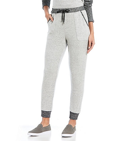 Jones New York Marled Knit Pull-On Jogger Pants