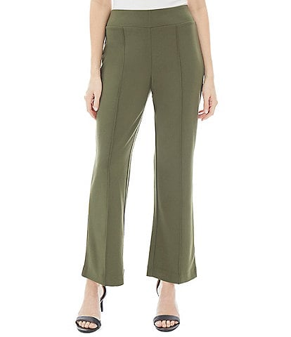 Jones New York Pintuck Lightweight Wide Leg High Rise Pull-On Knit Pants
