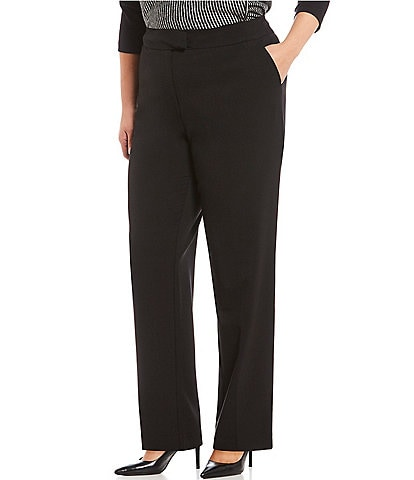 Jones New York Plus Size Sydney Straight Leg Pant