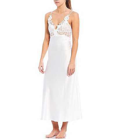 Jonquil Caterina Matte Satin & Lace Long Gown