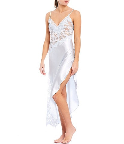 Jonquil Elena Satin & Lace Long Gown