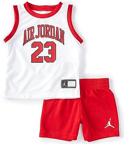Jordan Baby Boys 12-24 Months HBR/DNA Jordan Muscle Tank & Shorts Set