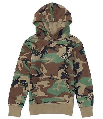 Jordan Big Boys 8-20 Camouflage Essentials Fleece Pullover Hoodie