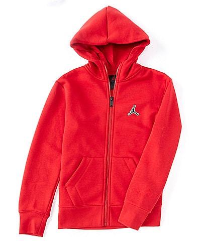 Jordan Big Boys 8-20 Essentials Fleece Full-Zip Hoodie