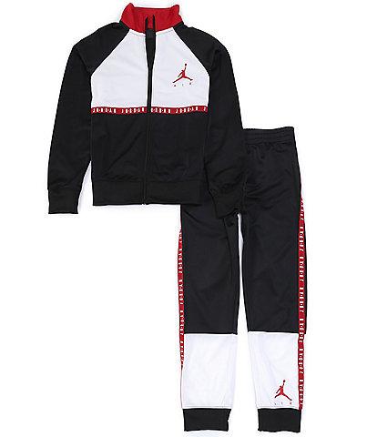 Jordan Big Boys 8-20 Logo-Taping Colorblock Track Jacket & Jogger Tricot Set
