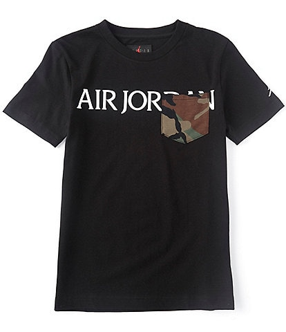 Jordan Big Boys 8-20 Short-Sleeve Jumpman Classics Camo-Pocket Tee