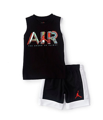 Jordan Little Boys 2T-7 Jordan By Air Muscle Tank & Pique Shorts Set