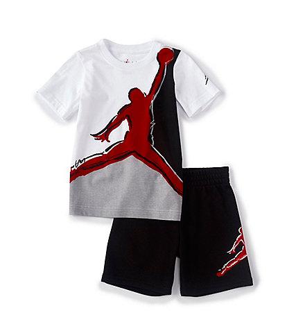 Jordan Little Boys 2T-7 Painted Jumpman Muscle Tee & Shorts Set