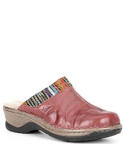 Josef Seibel Catalonia 59 Leather Clog Mules