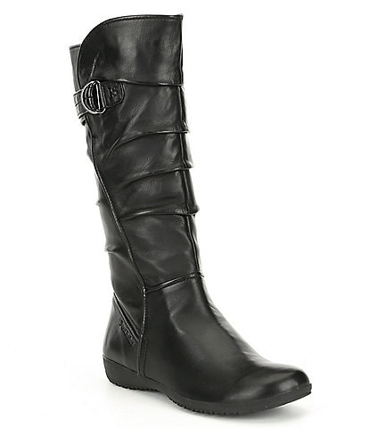 Josef Seibel Naly 23 Tall Scrunched Slouch Leather Boots