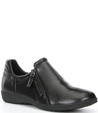 Josef Seibel Naly 32 Leather Zip Slip On Flats
