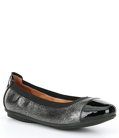 Josef Seibel Pippa 07 Patent Cap-Toe Leather Flats