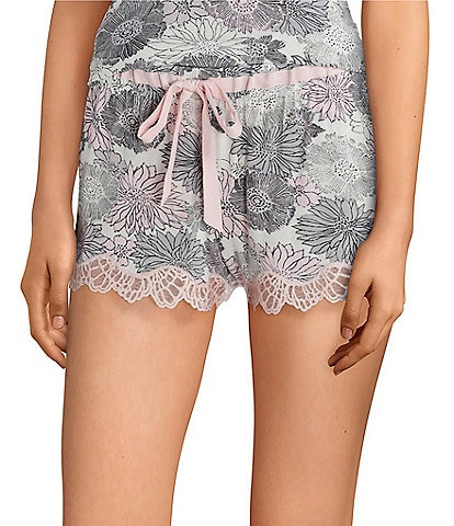 Josie Bardot Midnight Printed Knit Sleep Shorts
