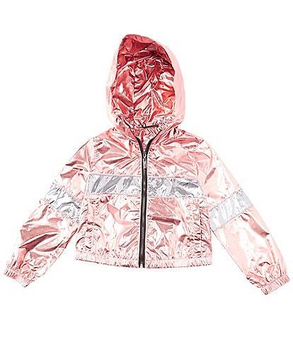 Jou Jou Big Girls 7-16 Metallic Colorblock Windbreaker Jacket