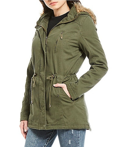Jou Jou Sherpa Hooded Anorak Jacket