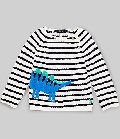 Joules Baby Boys 3-24 Months Dino Stripe Pullover