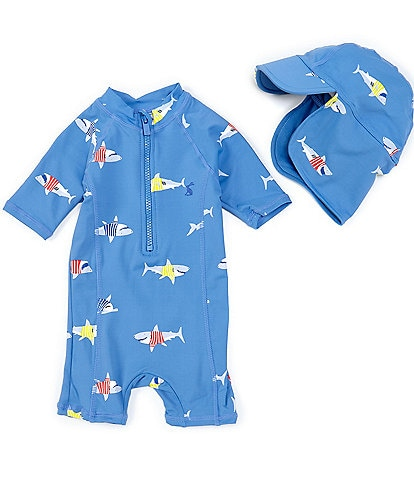 Joules Baby Boys 3-24 Months Sun Shark One-Piece Swimsuit