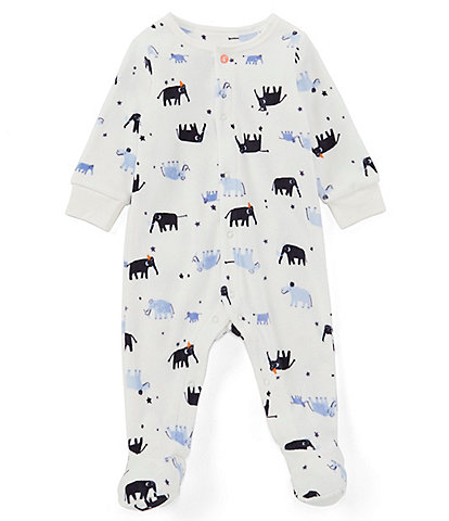 Joules Baby Boys Newborn-12 Months Cosmo Velour Printed Babygrow Footed Sleeper