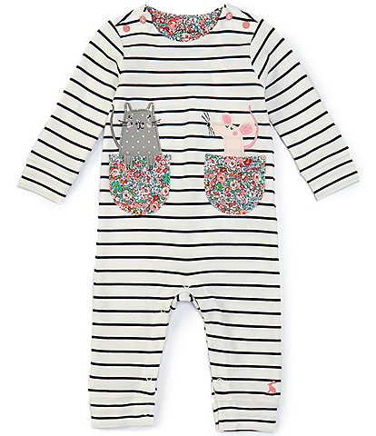 Joules Baby Girls 3-24 Months Long-Sleeve Gracie Stripe Coverall