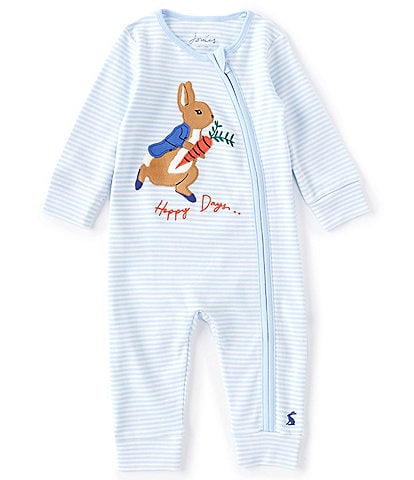 Joules Baby Girls 3-24 Months Long-Sleeve Rabbit Winfield Stripe Coverall