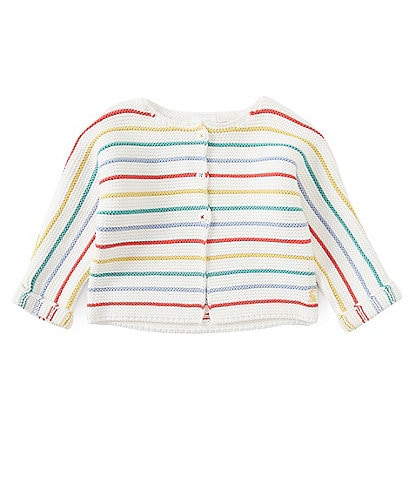 Joules Baby Preemie-12 Months Striped Chunky Knit Cardigan