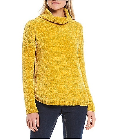 Joules Chelsey Chenille Drop Shoulder Long Sleeve Turtleneck Sweater