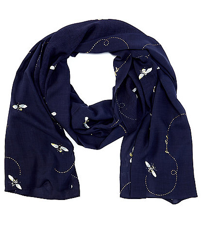Joules Conway Bee Print Rectangular Scarf
