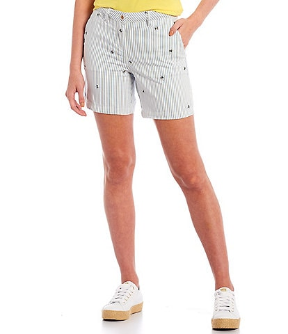 Joules Cruise Bee Stripe Mid Length Shorts