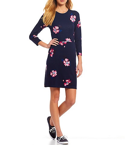 Joules Emilie Floral Print Knit Jersey Dress