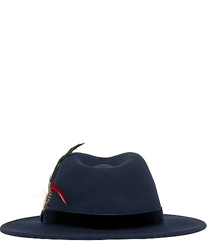 Joules Feather Detail Fedora Hat