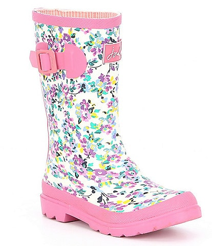 Joules Girls' Welly Floral Print Rain Boot