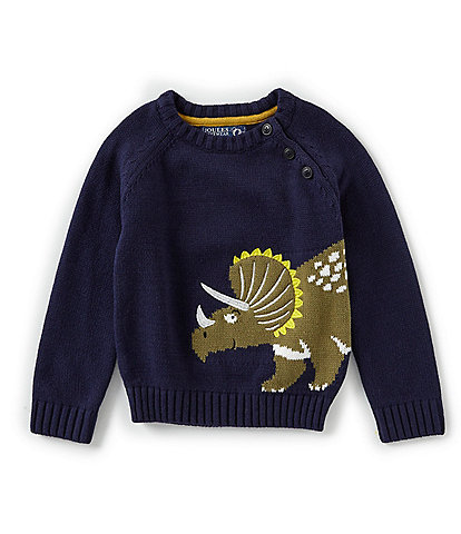 Joules Little Boys 2-6 Intarsia Dino Sweater
