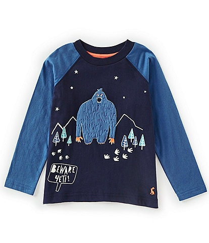 Joules Little Boys 2-6 Raymond Long Sleeve Glow in the Dark Top